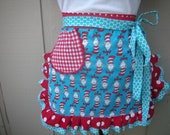 Aprons - Dr. Seuss Womens Handmade Aprons - Cat In The Hat Aprons - Annies Attic Aprons - Teacher Gifts - Annies Attic Aprons