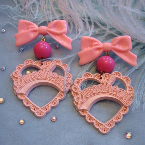 Pink on Pink Sweetheart Earrings