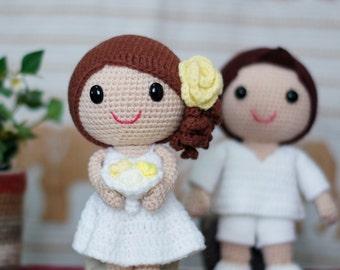 Bella & Wally Beach Wedding Dolls Pattern