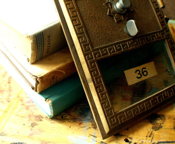 Antique Post Office Box 36 // Spring SALE 10% Off Coupon Code SPRING10