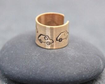 TRAFFIC,Cartilage, Ear Cuff, Band, Wrap,14K Gold Filled, 5mm,car