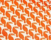 Orange tucan cotton fabric 1 yard-LAST YARD