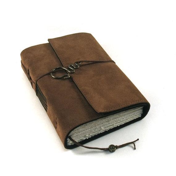 Dark Chocolate, leather journal, handmade
