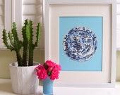 BLUE/AQUA CHINOISERIE Plate Print