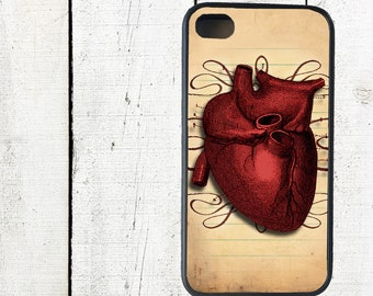 Anatomical Heart Phone Case Valentine's Dayfor iPhone 4 4s 5 5s 5c SE 6 6s 7  6 6s 7 Plus Galaxy s4 s5 s6 s7 Edge