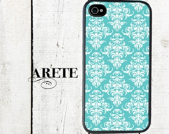 Turquoise Damask Phone Case for  iPhone 4 4s 5 5s 5c SE 6 6s 7  6 6s 7 Plus Galaxy s4 s5 s6 s7 Edge