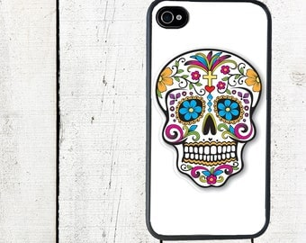 iphone 6 case Sugar Skull Cell Phone Case - Day of the Dead iPhone Case - iPhone 4, 4s - iPhone 5 Case