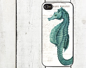 iphone 6 case Turquoise Seahorse iPhone Case, fits iPhone 4, 4s,  iPhone 5 - Nautical Cell Phone Case - Galaxy s3 s4 s5