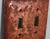 Mini Ivy copper light switch cover