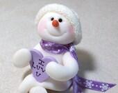I Heart You snowman ornament