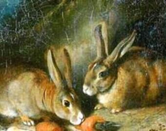 Vintage Bunnies Cross Stitch Pattern PDF