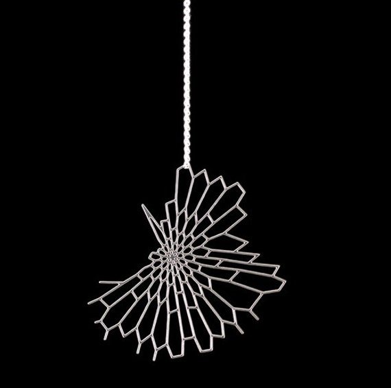 SALE 15% off Radiolaria Pendant - stainless steel and sterling silver necklace, modern, abstract, nature, science