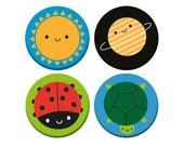 Happy Nature - Kawaii Badge Set