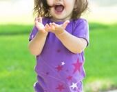 Gifts for baby girl Stars Organic Baby Girl Onesie Purple