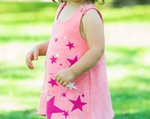 Gifts for baby girl Stars Baby Toddler Organic Dress Pink - Direct Checkout
