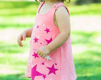 Baby Girl Outfit, Baby Girl Clothes, Baby Shower Gifts, Baby Clothes, New Baby, Baby Shower Gift, Stars Baby Toddler Organic Dress Pink