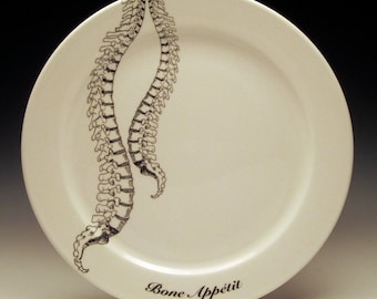 Spinal Cord BONE APPETIT 9 inch dinner plate No. 1 NEW