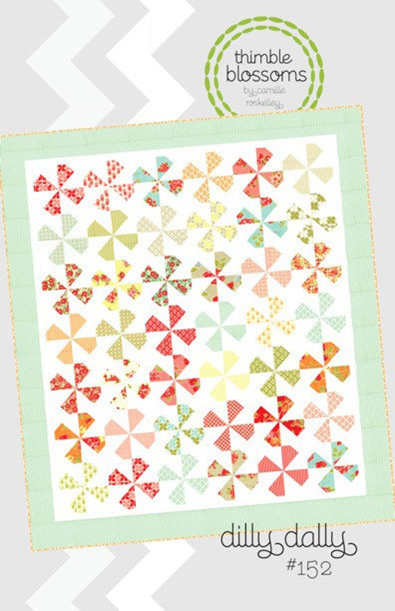 Dilly Dally quilt pattern from Thimble Blossoms - charm square lap quilt
