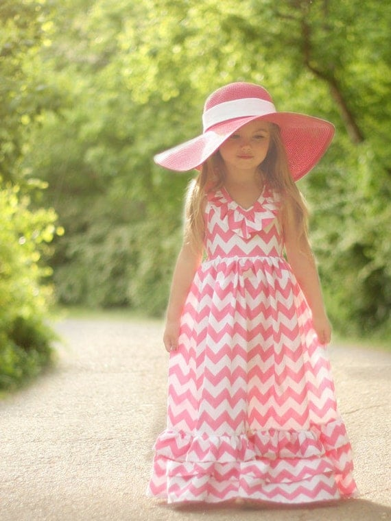 Emmaline maxi dress sewing pattern from Violette Field Threads - sizes 2T - 9/10
