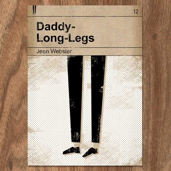Daddy-Long-Legs Classic Vintage Book Cover Print