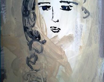 """Original painting, """"The Cloud Princess"""""""