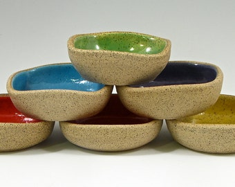 Itty Bitty Dippy Dishes- set of 6 rainbow