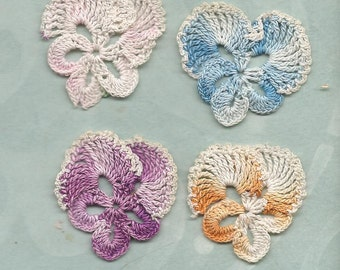 Crocheted Pansy Garden
