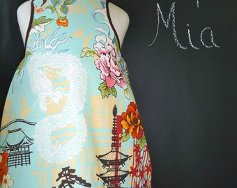Aline Apron DRESS - Alexander Henry - Koto - 2 Years of Fashion - Pick the size Newborn up to 12 Years - by Boutique Mia