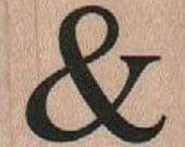 Rubber stamprubber stamps stamping rubberstamp  small ampersand l wood Mounted  scrapbooking supplies number 18125