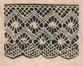 Rubber stamp  Lace border unMounted  scrapbooking supplies number 10271