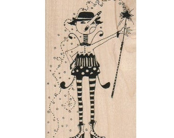 Rubber stamp Fairy Magic wand Steampunk Rubber Stamp   designed by Mary Vogel Lozinak no 18837