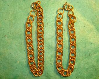 Vintage Double Cable Brass Bracelet Chain