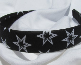 Black And White Star Headband