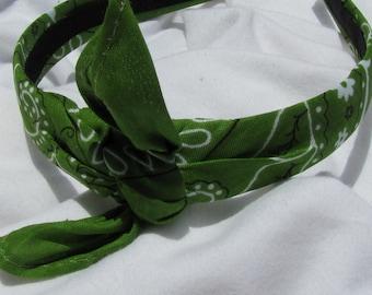 Bandana Knot Headband (OLIVE GREEN)