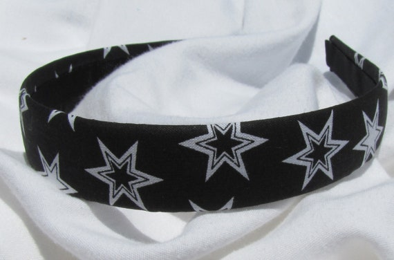 Black And White Star Headband