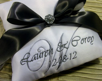 Custom Monogram Ring Pillow