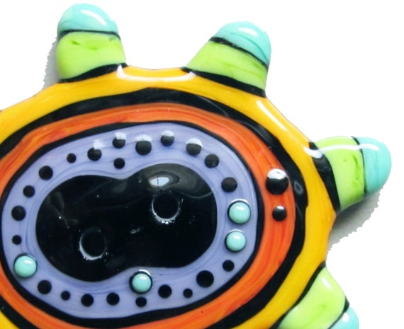 Zuma Button--Handmade Glass Lampwork Button