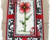 Bloom and Simplify OOAK Handmade Greeting Art Card All Occasion