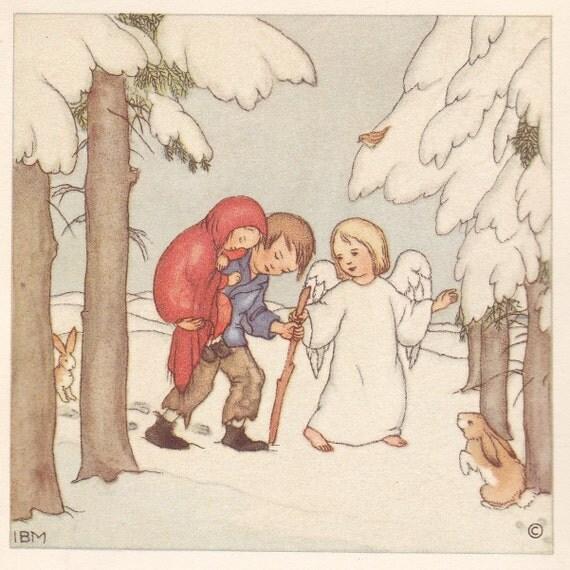 Ida Bohatta Morpurgo - Two Children's Books - Hail Mary & Our Father -1932 Verlag Ars Sacra Josef Mueller Munich
