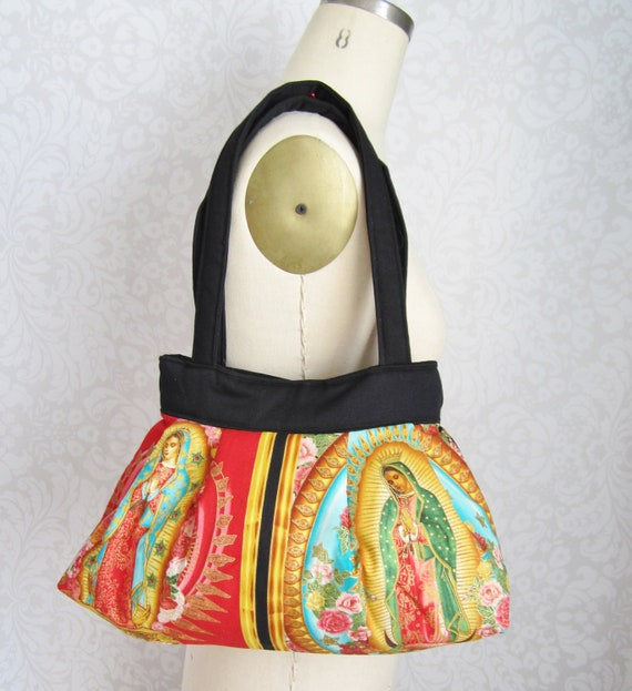 Lady of Guadalupe Pleated Handbag-Ready to Ship