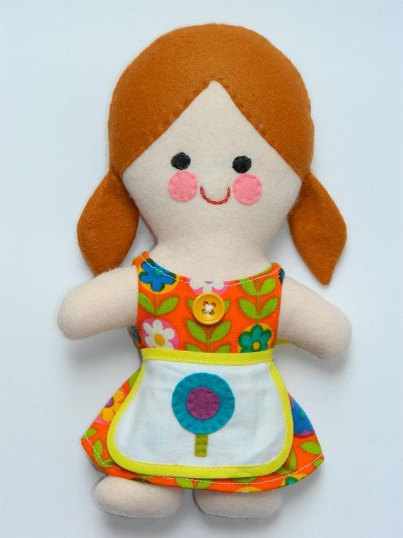 NEW Peggy Retro Doll - made with original vintage fabrics