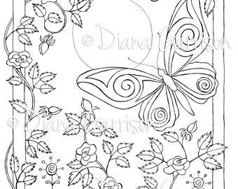 Butterfly Beauties Digi Digital Stamp