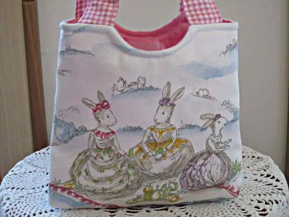 Tote Purse Bunnies Boutique Child Bag Bunny Tea Party Custom for Michelle