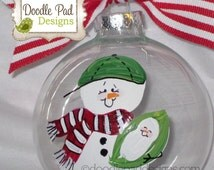 Big Brother Ornament, First Christmas Ornament, Personalized Snowman Ornament