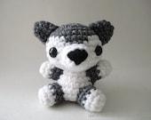 Gray Wolf Pup - Amigurumi Wolf Doll