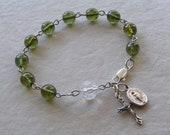 Olive Green Rosary Bracelet