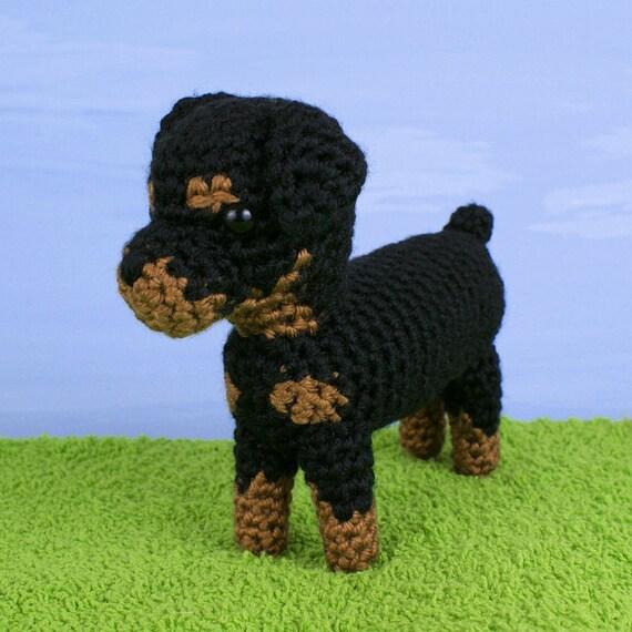 Tinkerbell Amigurumi Free Pattern : PDF AmiDogs Rottweiler amigurumi dog CROCHET PATTERN