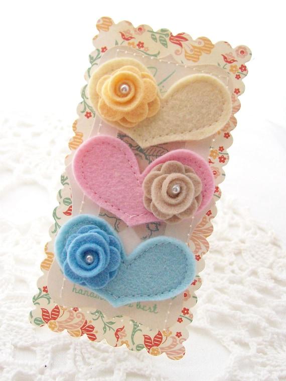 Heart Wool Blend Felt Embellishments
