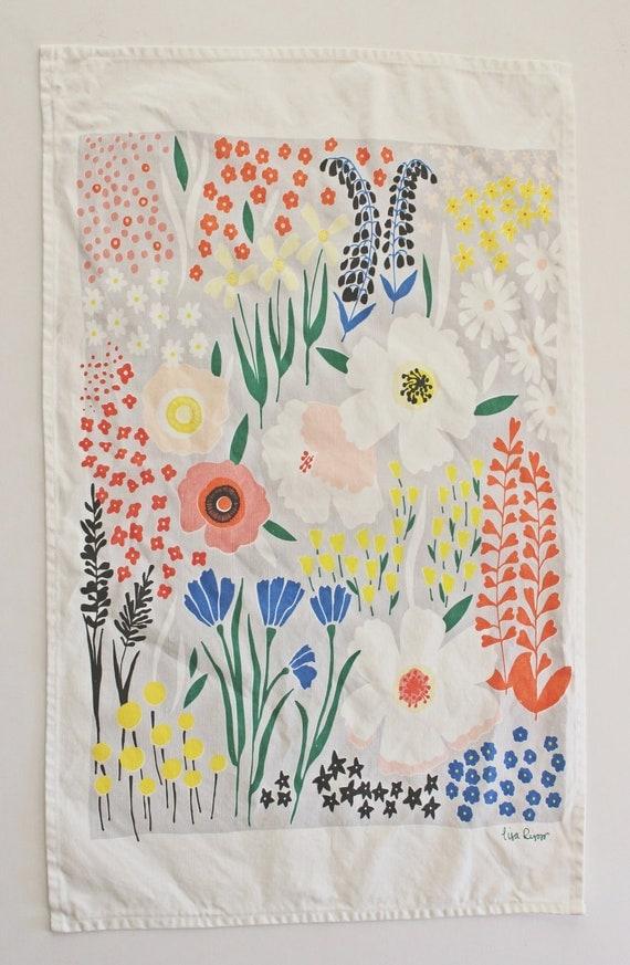 LAST ONE! - Anemone Garden Dishtowel