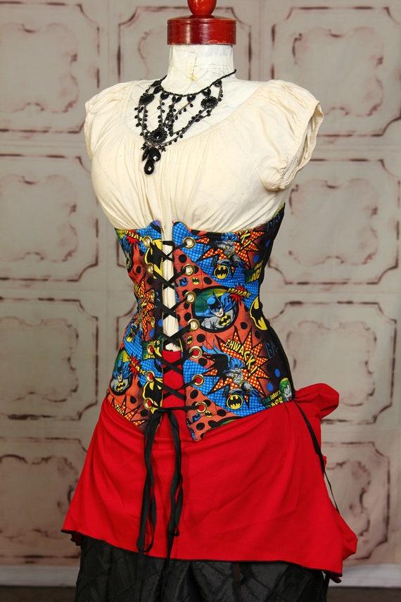 Ruby Red Mini Bustle Skirt